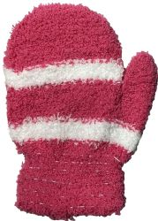 48 Units of Yacht & Smith Kids Striped Fuzzy Winter Mittens Gloves Ages 2-7 - Winter Gloves