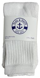 36 Units of Yacht & Smith Kids White Solid Tube Socks Size 4-6 - Boys Crew Sock
