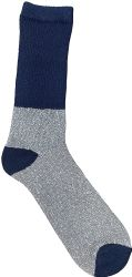 6 Units of Yacht & Smith Thermal Diabetic Crew Socks For Women, Marled, Ringspun Cotton, Seamless Toe, Loose Top - Women's Diabetic Socks