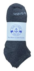 60 Units of Yacht & Smith 97% Cotton Men's Light Weight Breathable No Show Loafer Ankle Socks Solid Gray - Mens Ankle Sock