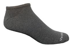 24 Units of Yacht & Smith 97% Cotton Men's Light Weight Breathable No Show Loafer Ankle Socks Solid Gray - Mens Ankle Sock