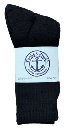 60 Units of Yacht & Smith Women's Cotton Crew Socks Black Size 9-11 Bulk Pack - Womens Crew Sock