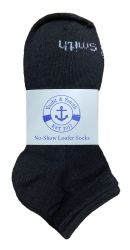 48 Units of Yacht & Smith Kids Unisex Low Cut No Show Loafer Socks Size 6-8 Solid Black - Girls Ankle Sock