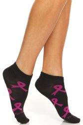 36 Units of Yacht & Smith Women's Breast Cancer Awareness Socks, Pink Ribbon Ankle Socks - Breast Cancer Awareness Socks