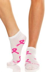 60 Units of Yacht & Smith Women's Breast Cancer Awareness Socks, Pink Ribbon Ankle Socks - Breast Cancer Awareness Socks
