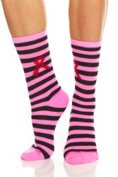 12 Units of Yacht & Smith Pink Ribbon Breast Cancer Awareness Crew Socks For Women 12 Pairs - Breast Cancer Awareness Socks