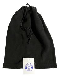 36 Units of Yacht & Smith Unisex Multi Functional Fleece Beanie Face Cover And Scarf , Solid Black - Winter Beanie Hats