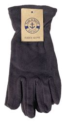 12 Units of Yacht & Smith Mens Winter Fleece Gloves With Snug Fit Cuff - Fleece Gloves
