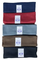 6 Units of Yacht & Smith Warm Fleece Knit Winter Neck Scarfs, Unisex Assorted Colors - Winter Scarves