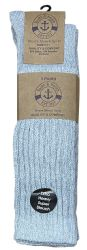 24 Units of Yacht & Smith Womens Heavy Cotton Slouch Socks, Solid Heather Gray - Womens Crew Sock