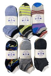 60 Units of Yacht & Smith Assorted Pack Of Womens Low Cut Printed Ankle Socks Bulk Buy - Womens Ankle Sock