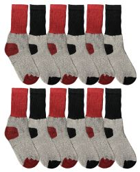 60 Units of Yacht & Smith Kids Thermal Socks, Bulk Pack Thick Warm Winter Boot Extreme Weather Socks - Boys Crew Sock