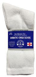 60 Units of Yacht & Smith Women's Cotton Diabetic NoN-Binding Crew Socks - Size 9-11 White - Women's Diabetic Socks