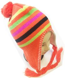 36 Units of Knitted Earflap Beanie In Assorted Colors - Winter Hats