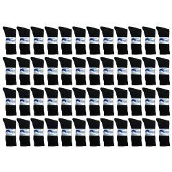 48 Units of Yacht & Smith Women's Cotton Diabetic NoN-Binding Crew Socks Size 9-11 Black - Women's Diabetic Socks