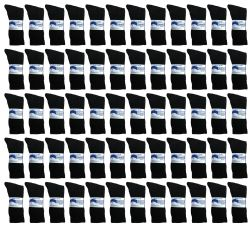60 Units of Yacht & Smith Women's Cotton Diabetic NoN-Binding Crew Socks Size 9-11 Black - Women's Diabetic Socks