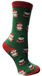 60 Units of Christmas Printed Socks, Fun Colorful Festive, Crew, Sock Size 9-11 - Womens Knee Highs