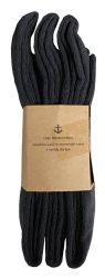 12 Units of Yacht & Smith Girls Black Knee High Socks , 90% Cotton Size 6-8 - Girls Knee Highs