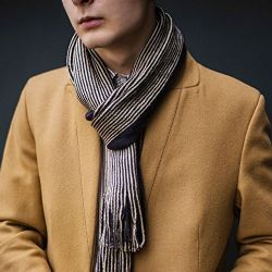 Yacht&smith 3 Pack Designer Winter Scarves, Stripe Patterned Neck Scarf, Unisex (option A) One Size - Winter Scarves