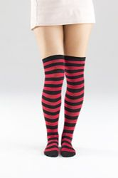 3 Units of Yacht&smith Womens Over The Knee Socks Stripe Referee Knee High Socks - Womens Over the knee sock