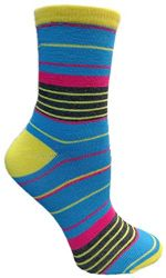 Yacht&Smith 5 Pairs of Womens Crew Socks, Fun Colorful Hip Patterned Everyday Sock (Color Prints L) - Womens Crew Sock