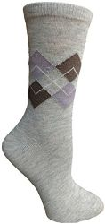 Yacht&Smith 5 Pairs of Womens Crew Socks, Fun Colorful Hip Patterned Everyday Sock (Assorted Argyle A) - Womens Crew Sock