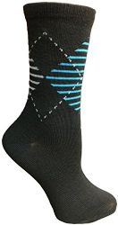 Yacht&smith 5 Pairs Of Womens Crew Socks, Fun Colorful Hip Patterned Everyday Sock (assorted Argyle b) - Womens Crew Sock