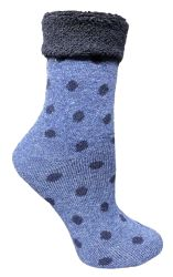 24 Units of Yacht & Smith Womens Thick Soft Knit Wool Warm Winter Crew Socks, Patterned Lambswool, POLKA DOT - Womens Thermal Socks