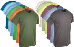 120 Units of Mens Cotton Crew Neck Short Sleeve T-Shirts Mix Colors, Medium - Mens T-Shirts