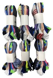 60 Units of Assorted Pack Of Womens Low Cut Printed Ankle Socks Many Prints Assorted - Womens Ankle Sock