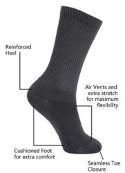 24 Units of Yacht & Smith Mens Cotton White Crew Socks, Sock Size 10-13 - Mens Crew Socks