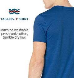 48 Units of Yacht & Smith Mens Cotton Crew Neck Short Sleeve T-Shirts, Royal Blue, 3X Large - Mens T-Shirts