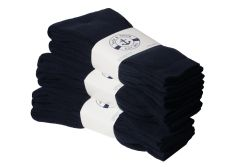 12 Units of Yacht & Smith Women's Cotton Sports Crew Socks Terry Cushioned, Size 9-11, Navy - Womens Crew Sock
