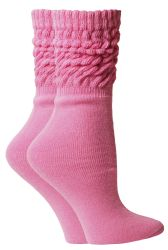 24 Units of Yacht & Smith Slouch Socks For Women, Solid Pink Size 9-11 - Womens Scrunchie Sock - Womens Crew Sock