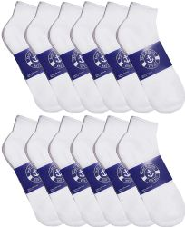 72 Units of Yacht & Smith Mens Cotton White No Show Ankle Socks, Sock Size 10-13 - Mens Ankle Sock
