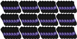 120 Units of Yacht & Smith Mens Cotton Black No Show Ankle Socks, Sock Size 10-13 - Mens Ankle Sock