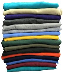 36 Units of Mens Cotton Crew Neck Short Sleeve T-Shirts Mix Colors, Large - Mens T-Shirts