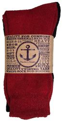 6 Units of Yacht & Smith Womens Winter Thermal Crew Socks Size 9-11  - Womens Thermal Socks