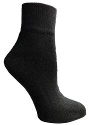 12 Units of Yacht & Smith Women's Diabetic Cotton Ankle Socks Soft Non-Binding Comfort Socks Size 9-11 Black - Women's Diabetic Socks