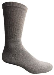 72 Units of Yacht & Smith Men's Premium Cotton Crew Socks Gray Size 10-13 - Mens Crew Socks