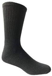 72 Units of Yacht & Smith Men's Premium Cotton Crew Socks Black Size 10-13 - Mens Crew Socks