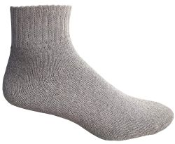 24 Units of Yacht & Smith Women's Premium Cotton Ankle Socks Gray Size 9-11 - Womens Ankle Sock