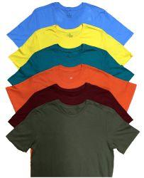 12 Units of Mens Cotton Crew Neck Short Sleeve T-Shirts Mix Colors, Medium - Mens T-Shirts