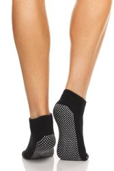 48 Units of Yacht & Smith Assorted Colors Rubber Grip Bottom Cotton Yoga, Trampoline Sock Size 9-11 - Womens Ankle Sock