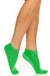 120 Units of Yacht & Smith Assorted Colors Rubber Grip Bottom Cotton Yoga, Trampoline Sock Size 9-11 - Womens Ankle Sock