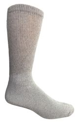 48 Units of Yacht & Smith Men's King Size Loose Fit NoN-Binding Cotton Diabetic Crew Socks Gray Size 13-16 - Big And Tall Mens Diabetic Socks