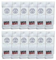 72 Units of Yacht & Smith Women's Cotton Usa Tube Socks, Referee Style Size 9-15 - Womens Crew Sock