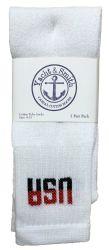 120 Units of Yacht & Smith Women's Cotton Usa Tube Socks, Referee Style Size 9-15 - Womens Crew Sock