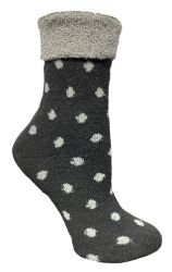 48 Units of Yacht & Smith Womens Thick Soft Knit Wool Warm Winter Crew Socks, Patterned Lambswool, POLKA DOT - Womens Thermal Socks