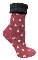 60 Units of Yacht & Smith Womens Thick Soft Knit Wool Warm Winter Crew Socks, Patterned Lambswool, POLKA DOT - Womens Thermal Socks